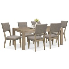 Gather Round Featuring A Rustic Yet Refined Look The Tribeca Dining Room Set Will Freshen Up Any Gathering Area With Clean Simple Lines And Homey