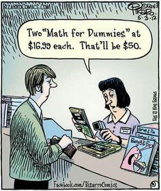 Bizarro comic by Dan Piraro Math Puns, Math Memes, Science Jokes, Math Humor, Teacher Humor, Grammar Humor, Calculus Humor, Biology Humor, Chemistry Jokes