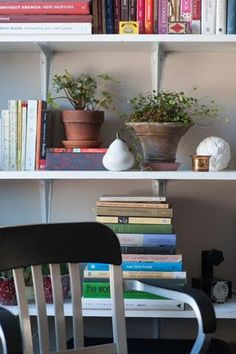 Plants on the bookshelf!
