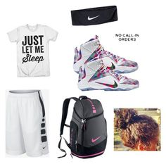 """""""BALL PRACTICE TODAY"""" by cutiepie1738 ❤ liked on Polyvore featuring NIKE"""