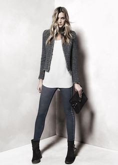 Chanel-inspired classic Boucle Jacket