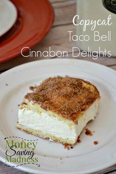 Copy Cat Taco Bell Cinnabon Delights