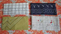 """Sashiko 刺し子 is a Japanese style of needlework. Literally meaning """"little stabs,"""" sashiko was originally used to strengthen and reinforce fabric through a series of running stitches.  Eventually sashiko evolved into a more decorative form, and today it is used to create patterns on table linens and tenugui 手拭い, cloth bags, and clothing such as kimono. Sashiko is best-known for its striking style of natural-toned yarn on indigo fabric, though modern patterns are stitched in any color, pattern…"""