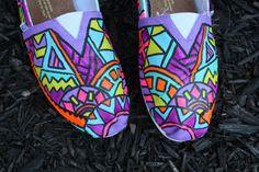 Custom FULL Tribal Print Toms by Chelmarca on Etsy, $130.00
