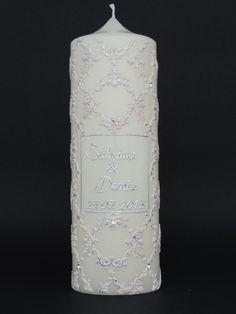 """Hochzeitskerzen & Beleuchtung - Hochzeitskerze """" Reliev"""" - ein Designerstück von claudia-slanzi bei DaWanda"""