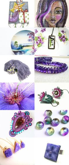 Purple Finds by Esther Steele on Etsy--Pinned with TreasuryPin.com