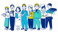 Ben work wear web site banner illustrations VEN WORK WEAR