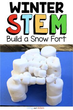 In this Winter STEM Project, students receive a letter from the STEM snowman stating that there is a snowball fight contest. In order to win, students must build a fort for protection using only the materials provided. This is an excellent activity for students to work on during the winter months!  #winterstemactivities #winterstemforkids #winter #winterintheclassroom