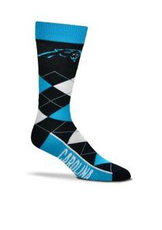 FBF Originals  Carolina Panthers - Argyle Crew Socks - Single Pair