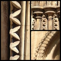 Dogs tooth and chevron patterns from Peterborough Cathedral