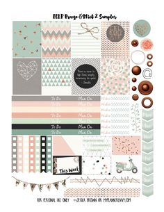 My Planner Envy: Bronze & Mint 2 Sampler- Free Planner Printable To Do Planner, Free Planner, Happy Planner, Planner Ideas, Agenda Planer, Wash Tape, Planer Organisation, Planner Decorating, Printable Planner Stickers