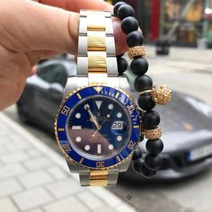 #Wristgame Strong | #Rolex x #MarcosdeAndrade || shop our Spike Onyx Bracelet at https://marcosdeandrade.com/product/classic-spike-onyx-bracelet-with-18k-gold/