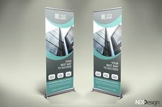 Business Roll-Up Banner - v43 by NEXDesign on @creativemarket
