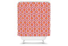 Zest Shower Curtain, Pink/Orange on OneKingsLane.com