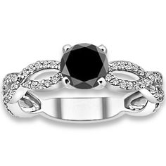 PricePointShop presents 0.50ctw Round Brilliant A Quality Black Color Diamond with Accent Stone Black Diamonds Engagement Ring at $610.35. Appraisal Certificate Included. http://www.pricepointshop.com/