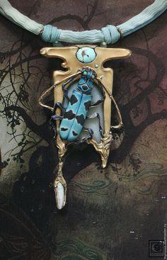 Купить Rosalia coelestis - бирюзовый, голубой, жук, красная книга, ар деко, Арт деко