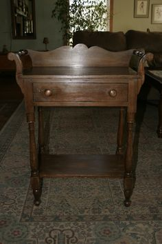Antique Victorian Washstand With Towel Bars This Would