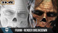 Character Sculpt Workflow Tutorial - Frank Render Breakdown \ Zbrush \ K...
