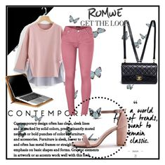 """""""contrast striped sweashirt"""" by ernaa94 ❤ liked on Polyvore featuring Chanel, Venus and Setton Brothers"""
