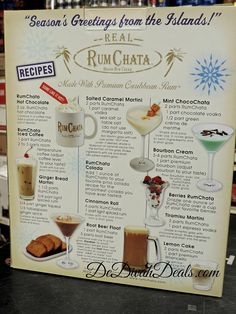Rumchata Recipee Drinks( This is for Carol ) Rumchata Cocktails, Rumchata Recipes, Alcoholic Drinks, Martinis, Rum Chata Drinks Recipes, Fireball Recipes, Vodka Recipes, Frozen Cocktails, Fun Cocktails