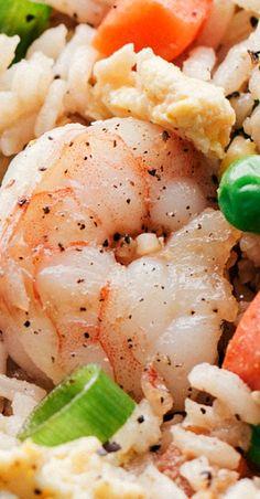 54 ideas seafood menu fried shrimp for 2019 Seafood Menu, Seafood Dinner, Seafood Recipes, Dinner Recipes, Cooking Recipes, Shrimp Fried Rice, Shrimp Dishes, Fish Dishes, Cajun Dishes