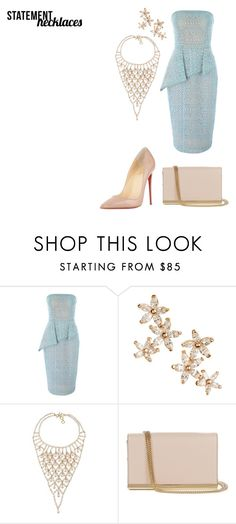 """Cocktail"" by nadia-n-pow on Polyvore featuring Jane Norman, Bonheur, Carolee, Diane Von Furstenberg, Christian Louboutin and statementnecklaces"