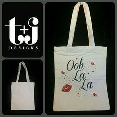 "Ooh La La"""" Bling Tote Bag"