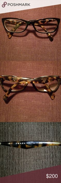 Prada eyeglasse Tortoise shell prada frames, use about 10 time,no damage still in New condition they have my rx in them but can be removed and your rx added,no case .will trade Prada Other