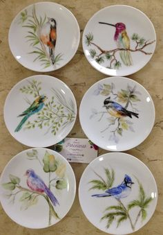 Birds Painting, Porcelain Art, Art Painting, Plate Art, Pottery Painting, Fabric Painting, Pottery Painting Designs, China Painting, Bird Art