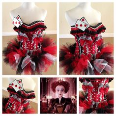 Queen of hearts costume created by me! #electriclaundry