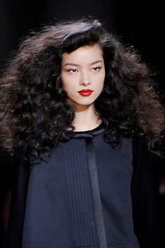 Big hair at Marc by Marc Jacobs Fall 2013