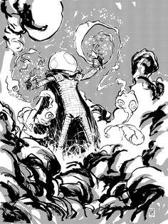 Daily Sketch Mysterio  by *skottieyoung