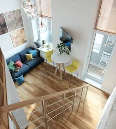 Designs by Style: Creative Home Loft Inspiration - Small Homes That Use Lofts To Gain More Floor Space Small Loft Apartments, Loft Spaces, Loft House, Tiny House, Loft Design, Design Case, Design Design, Interior Architecture, Interior Design