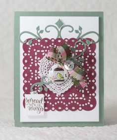 Encourage someone to branch out and spread their wings by creating this card made with Top Dog Dies Leafy Flourishes Die Set and Darby Doily & Tags Die Set.