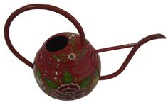 Narrowboat Hand Painted Watering Can In Red
