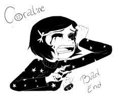 Coraline bad end friend 💞 Tim Burton Kunst, Tim Burton Art, Coraline Jones, Dark Drawings, Cute Drawings, Coraline Drawing, Coraline And Wybie, Coraline Aesthetic, Arte Sketchbook
