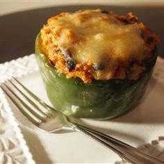 Vegetarian Mexican Inspired Stuffed Peppers  Looks good! #vegetarian #recipe #healthy