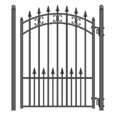 Brand New Custom Red Cedar Canterbury Pergola or Arbor Gate Wrought Iron Gate Designs, Wrought Iron Fences, Metal Gate Designs, Metal Garden Gates, Metal Gates, Home Depot, Tor Design, House Design, Sliding Gate