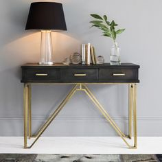 MODERN CONSOLE TABLE |Madison Console Table with storage. | bocadolobo.com/ #consoletableideas #modernconsoleage