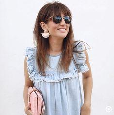 Spring Summer Fashion, Autumn Fashion, Blue Denim Dress, Jillian Harris, Casual Outfits, Cute Outfits, Summer Work Outfits, Summer Wardrobe, Girl Day