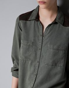 COMBINED SHIRT - Shirts - TRF - New collection - ZARA @2790 new