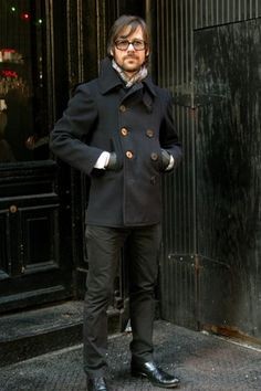 Well fitting Pea Coat. A strong classic look