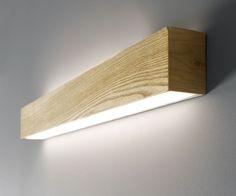 LEDlux Nord LED Up/Down Long Wall Bracket in Teak | Bathroom Mirror Lighting | Bathroom Lighting | Lighting