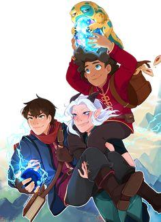 Prince Dragon, Dragon Princess, Animation Series, Disney Animation, Rayla X Callum, Dragons, Dragon Tales, An Elf, Animated Cartoons