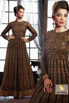 Golden and Black Bridal Salwar Suit