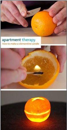 {.  Peach Yen} DIY orange fragrance lamp