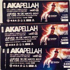 - PRE - VENTA ACTIVA BUSCA TU ENTRADA MONTEVIDEO AKAPELLAH VUELVE!! - ------------------ A K A P E L L A H @akapellahoficial  ------------------- - Unica presentación el proximo 18 de Mayo en Sol Cafe  ( Constituyente 1709 esq. Magallanes) ademas presentaciones en vivo de >> - F E D H I  B E S T & M O K E K  - K 1 2  @elkiko12 (LIVE SET) - H X X D L V R S  - L'AFFRO  (LIVE SET) - F K  (LIVE SET) - C A B A L L O L O C O   - Hosted by el único  inigualable carismático M I S I O N E R O…