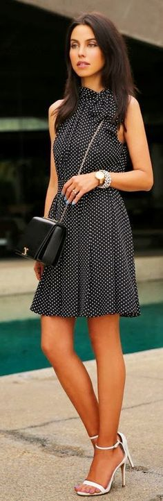 50 Stylish New Looks For Summer   Polka Dots