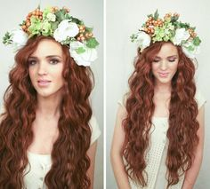 The Freckled Fox - a Hairstyle Blog: Festival Hair Week: Flower Crown Curls