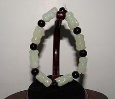"""0.7""""China Certified Nature Nephrite Hetian White Jade Bless Buddha Hand Bracelet, http://www.amazon.com/dp/B01F9CB07A/ref=cm_sw_r_pi_n_awdm_W1ZExb870J7SB"""
